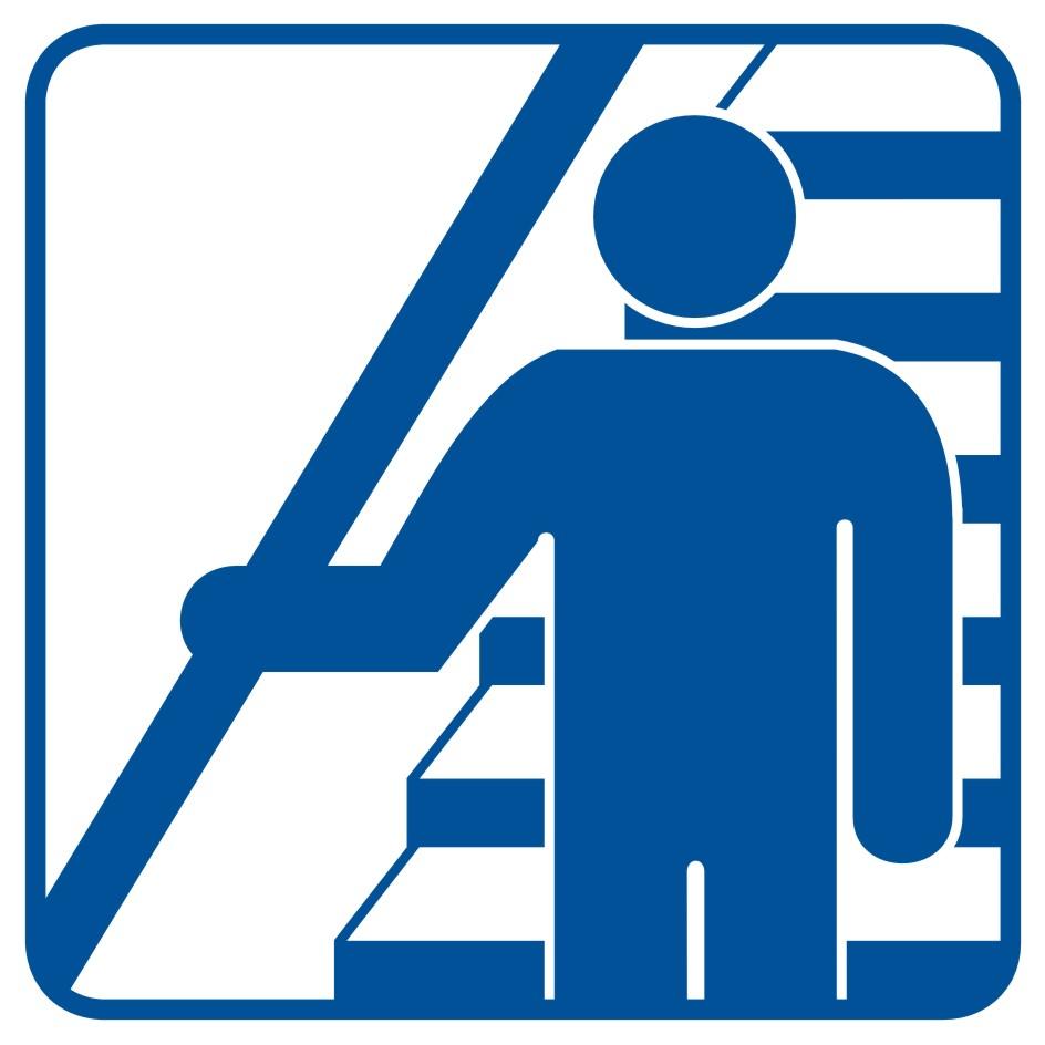 Trzymaj się poręczy schodząc i wchodząc po schodach