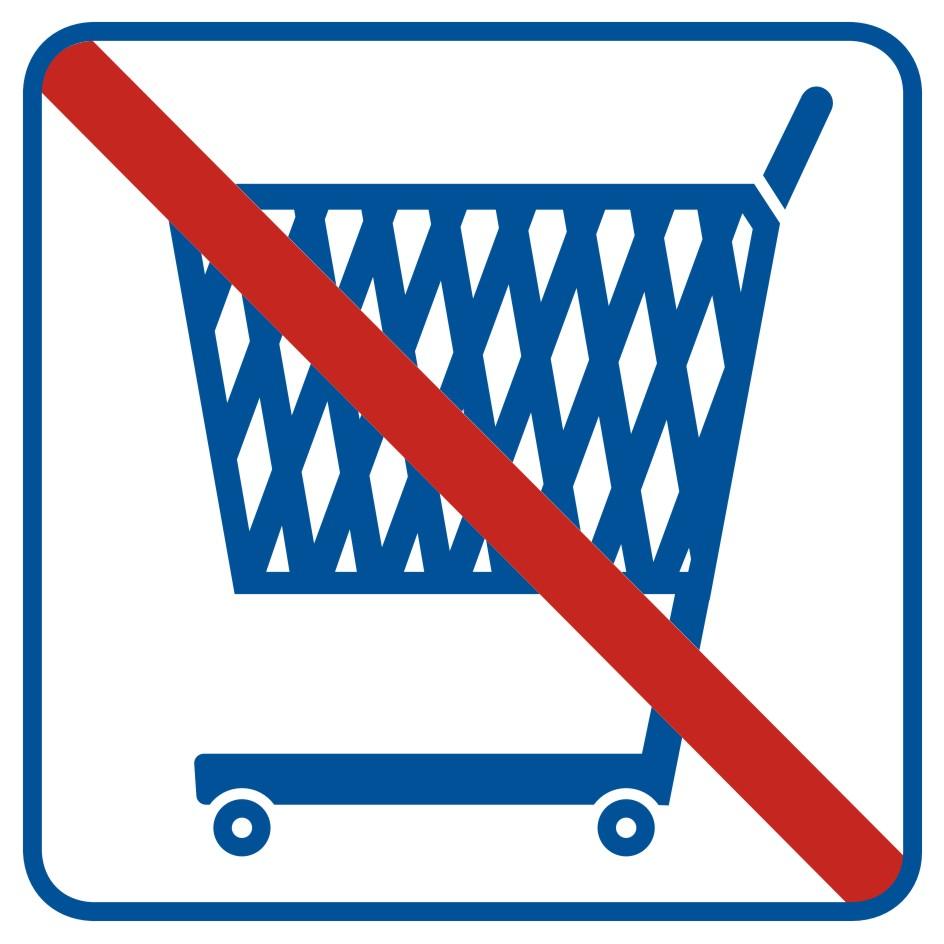Zakaz wjazdu z wózkami
