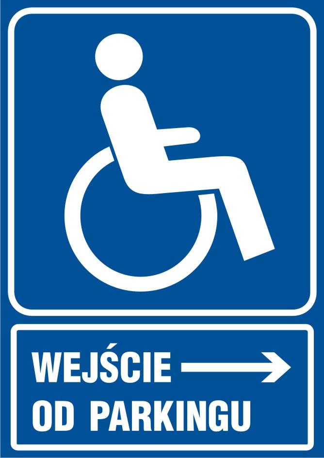 Wejście dla niepełnosprawnych od parkingu
