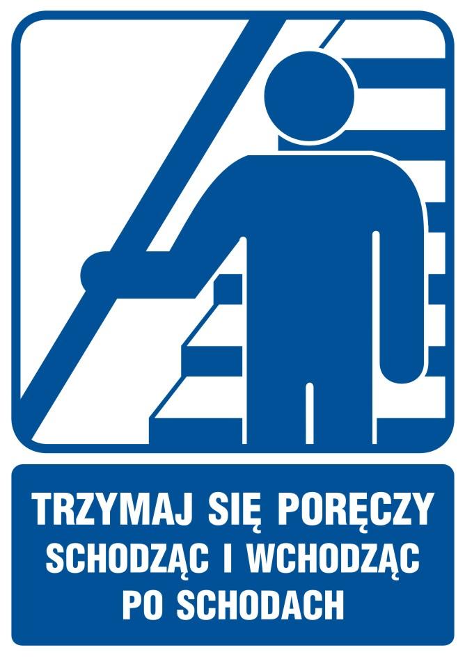 Trzymaj się poręczy schodząc i wchodząc po schodach 2