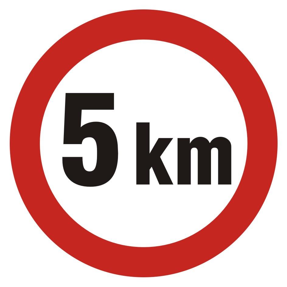 Ograniczenie prędkości 5km