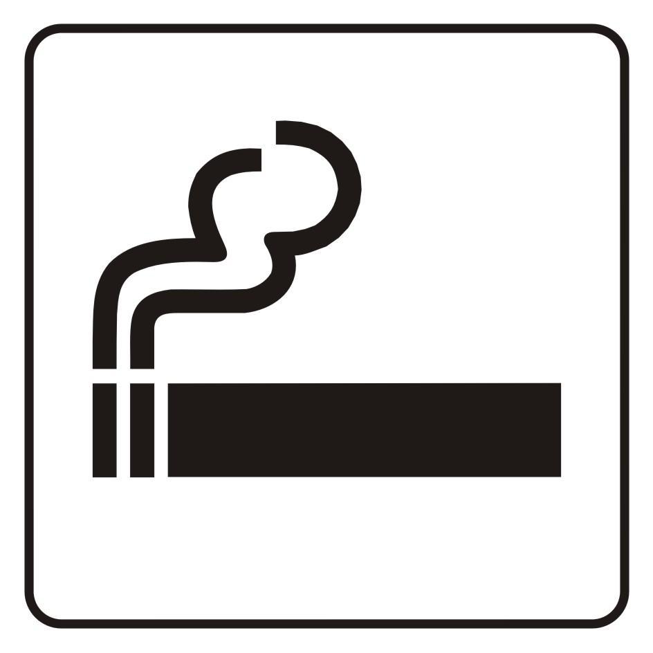 Naklejka tu wolno palić