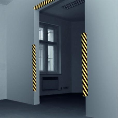 Profil ochronny ostrzegawczy czarno - żółty - przykład zastosowania