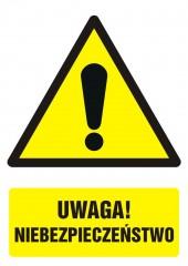 Znak Uwaga niebezpieczeństwo