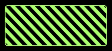 Odbojnica płaska fotoluminescencyjna czarno-żółta