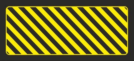 Odbojnica płaska nieświecąca czarno-żółta