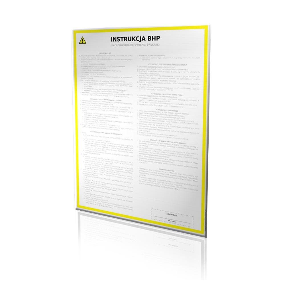 Instrukcja BHP - Wyciąg z rozporządzenia Ministra Pracy i Polityki Społecznej w sprawie bhp przy ręcznych pracach transportowych