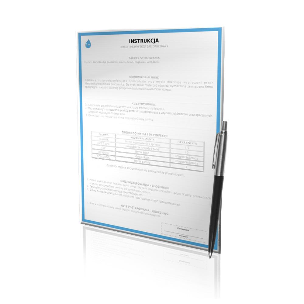 Zlecenie opracowania instrukcji sanitarnej GMP/GHP
