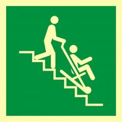 Znak ewakuacyjny Krzesło ewakuacyjne