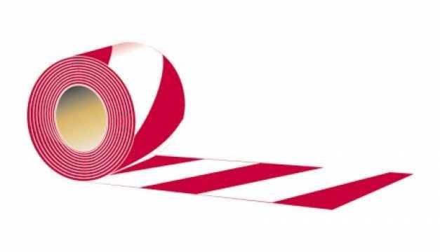 Taśma typ A - Dwustronna biało - czerwona