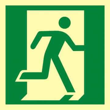 Znak ewakuacyjny Drzwi ewakuacyjne w prawo