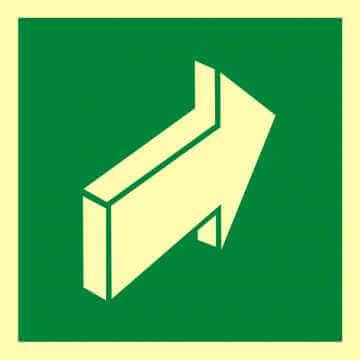 Znak ewakuacyjny Pchać aby otworzyć