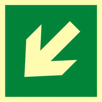 Znak ewakuacyjny Kierunek drogi ewakuacyjnej 3