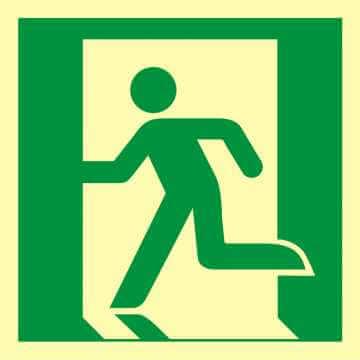 Znak ewakuacyjny Wyjście ewakuacyjne (lewostronne)