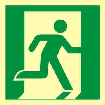 Znak ewakuacyjny Wyjście ewakuacyjne (prawostronne)
