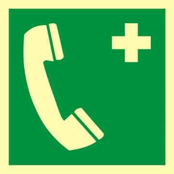 Znak ewakuacyjny Telefon alarmowy