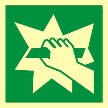 Znak ewakuacyjny Stłuc aby uzyskać dostęp 2