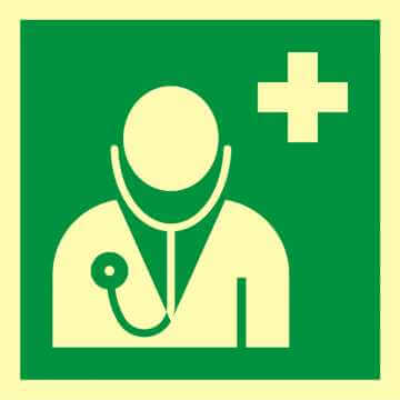 Znak ewakuacyjny Lekarz