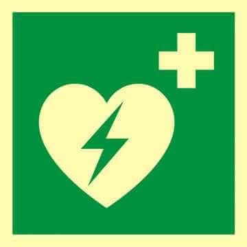 Znak ewakuacyjny Defibrylator (AED)