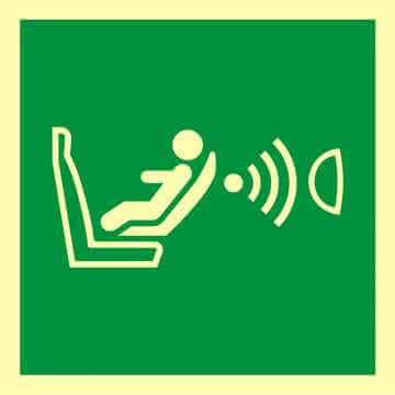 Znak ewakuacyjny System detekcji obecności i położenia fotelika dziecięcego (CPOD)