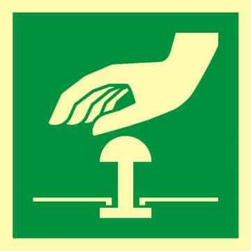 Znak ewakuacyjny Przycisk awaryjnego zatrzymania