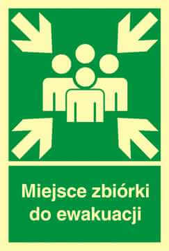 Znak ewakuacyjny Miejsce zbiórki do ewakuacji 2