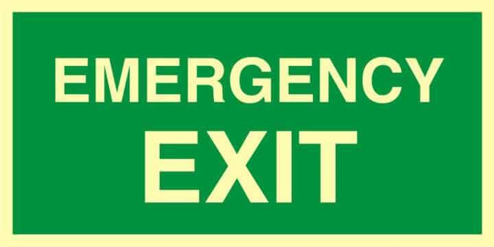 Znak ewakuacyjny Emergency exit
