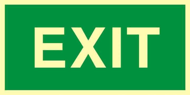 Znak ewakuacyjny Exit