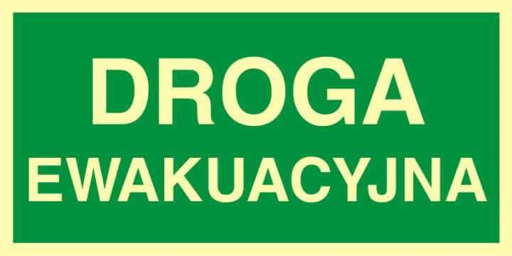 Znak ewakuacyjny Droga ewakuacyjna