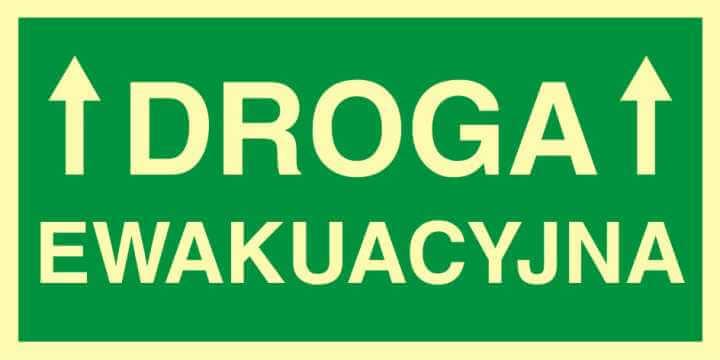 Znak ewakuacyjny Droga ewakuacyjna 1