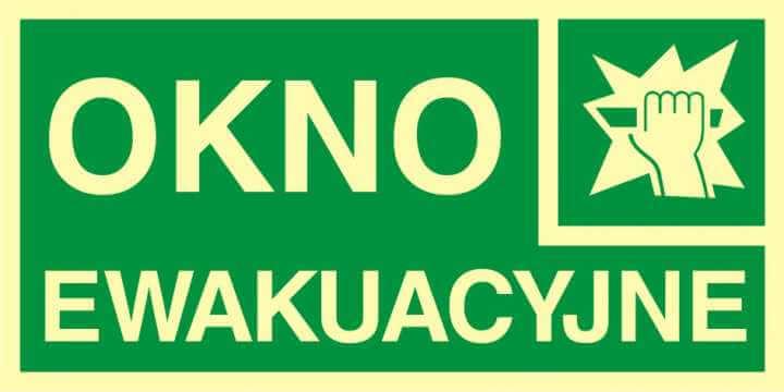 Znak ewakuacyjny Okno ewakuacyjne