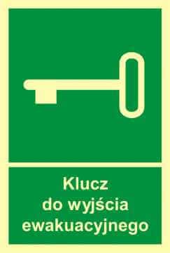 Znak ewakuacyjny Klucz do wyjścia ewakuacyjnego