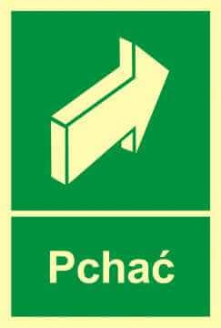 Znak ewakuacyjny Pchać