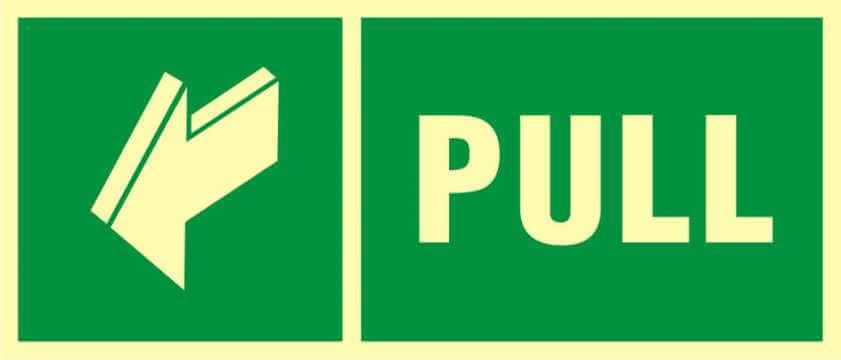 Znak ewakuacyjny Pull