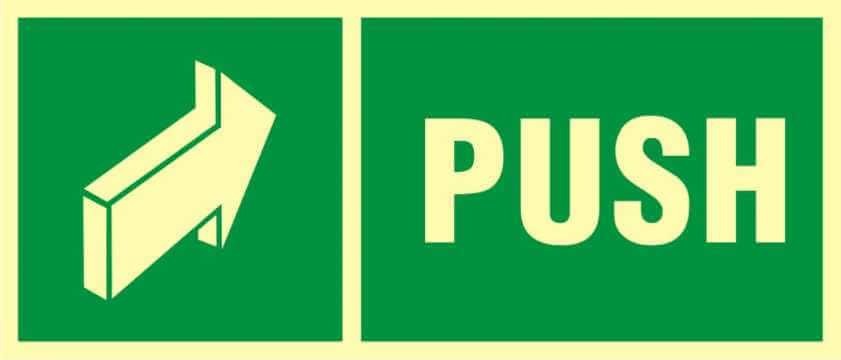 Znak ewakuacyjny Push