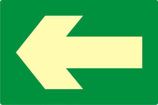 Znak ewakuacyjny Kierunek drogi ewakuacyjnej 5