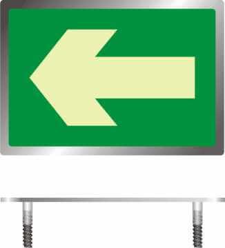 Znak ewakuacyjny Kierunek drogi ewakuacyjnej - znacznik podłogowy do konstrukcji ażurowych 2
