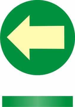 Znak ewakuacyjny Kierunek drogi ewakuacyjnej - znacznik podłogowy - wpuszczany w podłogę