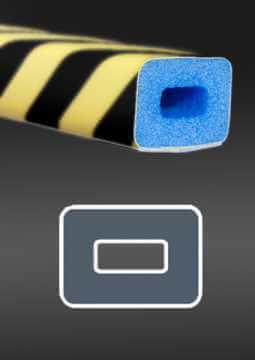 Profil ochronny fotoluminescencyjny czarno - żółty 2