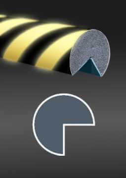 Profil ochronny fotoluminescencyjny czarno - żółty 3
