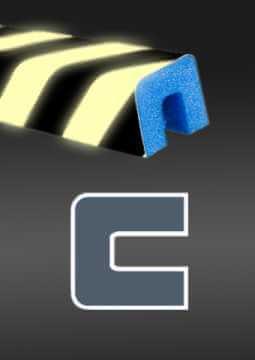 Profil ochronny fotoluminescencyjny czarno - żółty 4