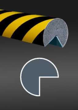 Profil ochronny ostrzegawczy czarno - żółty 3