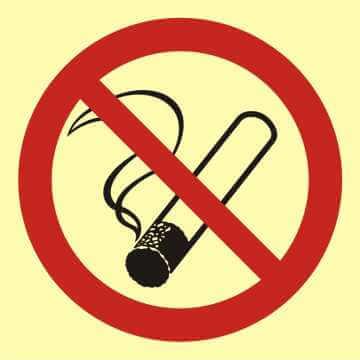 Znak przeciwpożarowy Palenie tytoniu zabronione