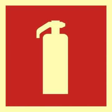 Znak przeciwpożarowy Gaśnica