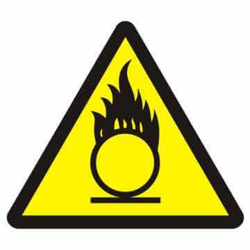 Znak przeciwpożarowy Materiały utleniające