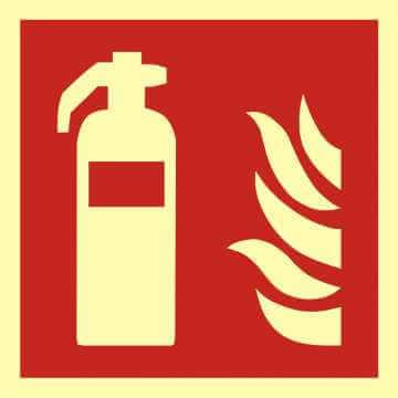 Znak przeciwpożarowy Gaśnica 2