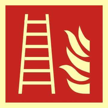 Znak przeciwpożarowy Drabina pożarowa 2