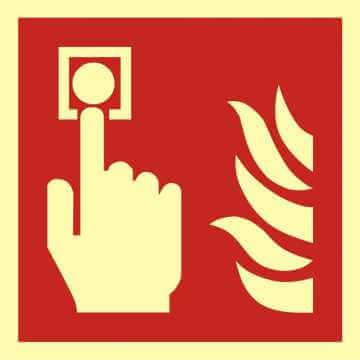 Znak przeciwpożarowy Alarm pożarowy