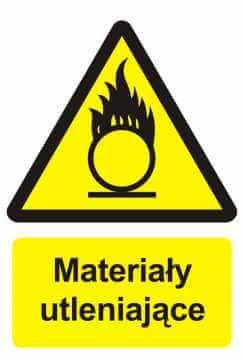 Znak przeciwpożarowy Materiały utleniające 2