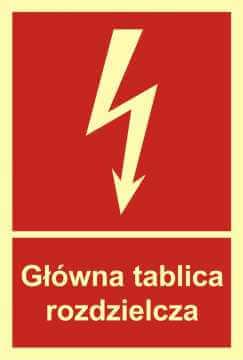 Znak przeciwpożarowy Główna tablica rozdzielcza